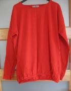 Luźna bluzka czerwona pomarańcza XL