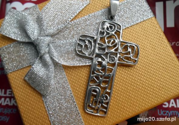Krzyż srebrny duży srebro 925 krzyżyk ze srebra