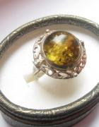 WARMET srebro pierścionek bursztyn NOWA CENA