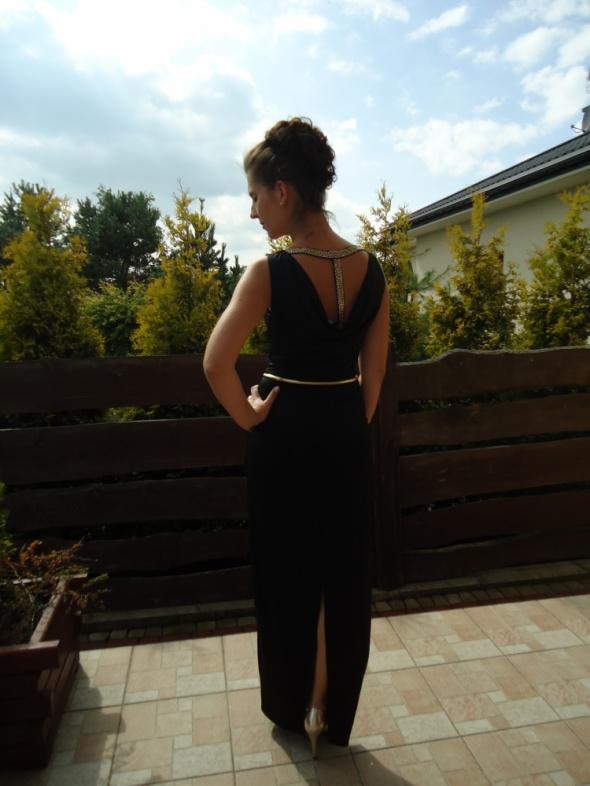 Mój styl elegancka czerń i złoto weselnie wieczorowo