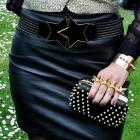 czarna spodnica ze skóy