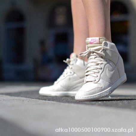 Obuwie Nike wmns dunk sky hi textile light orwood