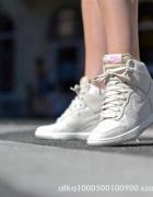 Nike wmns dunk sky hi textile light orwood