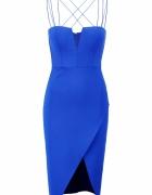 Kobaltowa sukienka etiu...