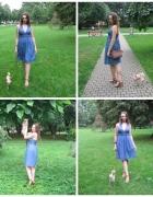 TOTAL VINTAGE jeansowa sukienka mojej mamy