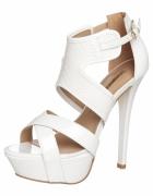 sandały na platformie białe