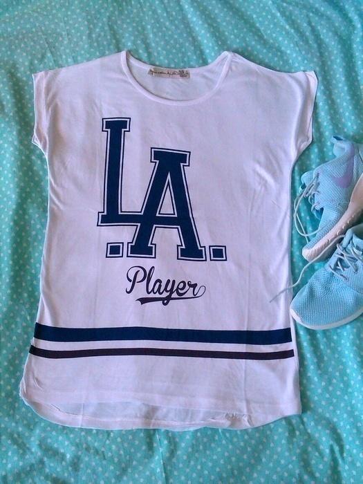 Koszulki Nowa biała koszulka LA