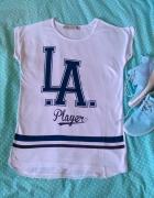 Nowa biała koszulka LA