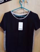 Nowa czarna koszulka mgiełka Sinsay