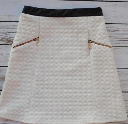 Spódnica pikowana biała