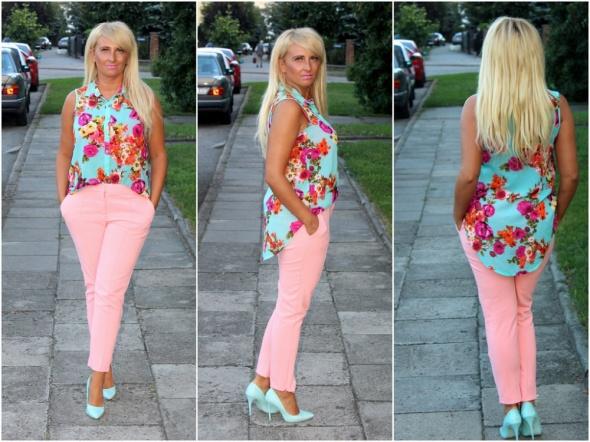 Blogerek kwiatowa koszula