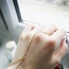 Złota bransoletka na palec w stylu boho