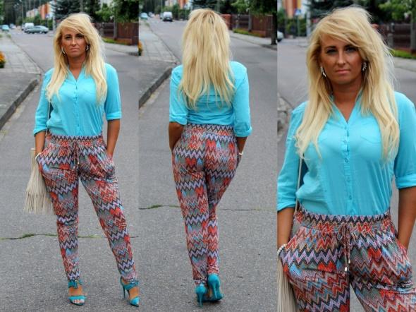 Blogerek spodnie w zygzaki