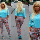 spodnie w zygzaki