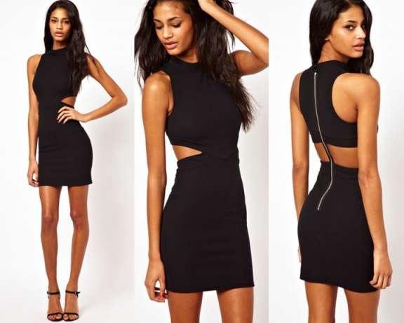 Sukienka asos czarna z wycięciami...