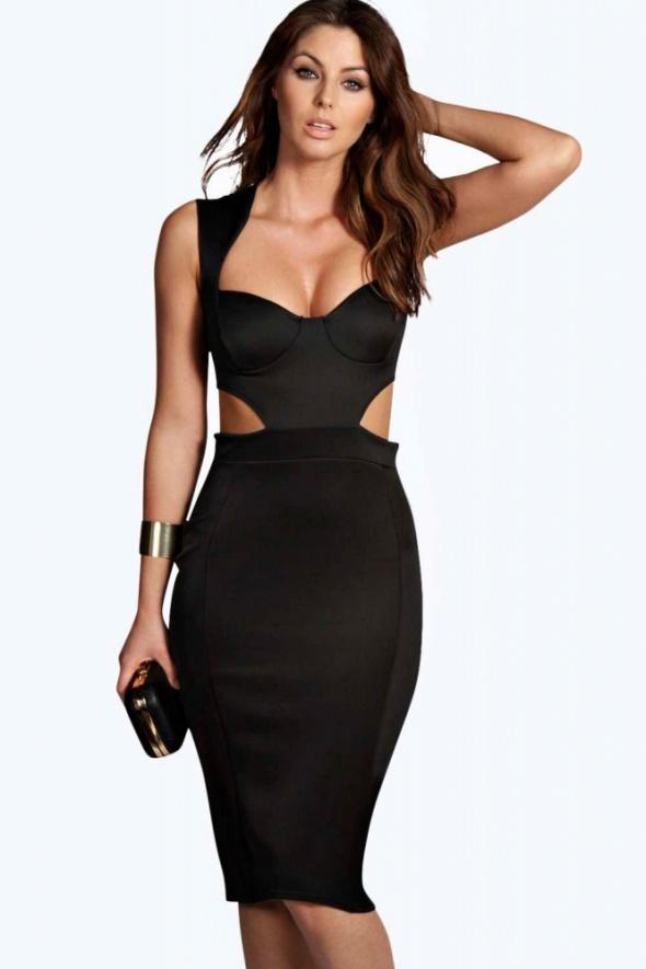sukienka asos wycięcia czarna...