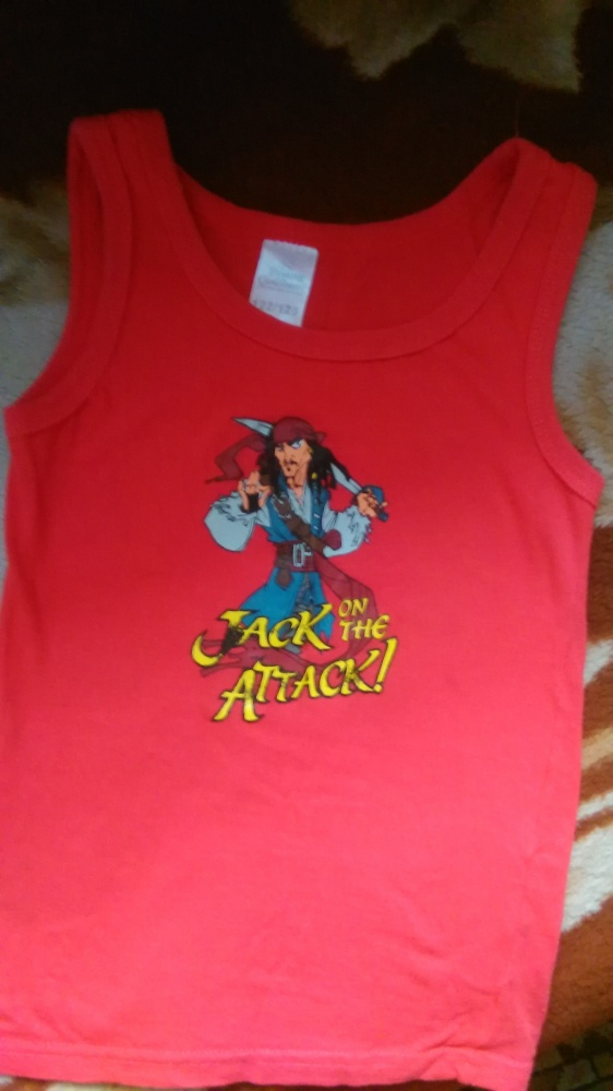 Koszulki, podkoszulki Czerwona koszulka kAPITAN JACK