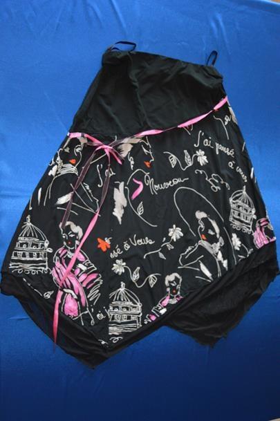 Spódnice Czarna spódnica asymetryczna