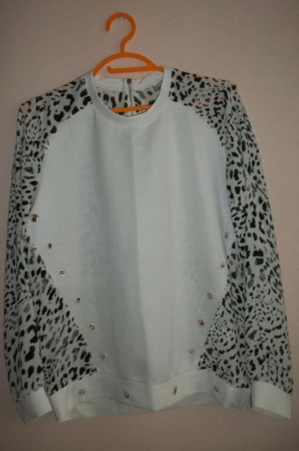 Biała koszula pantera