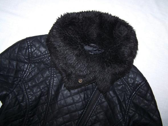 Kurtka ramoneska pikowana skórzana futro 36 38 10 w Odzież