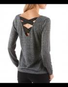 Sweter z paskami na plecach dowolny kolor