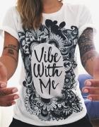 tshirt napis vibe with me poszukiwany