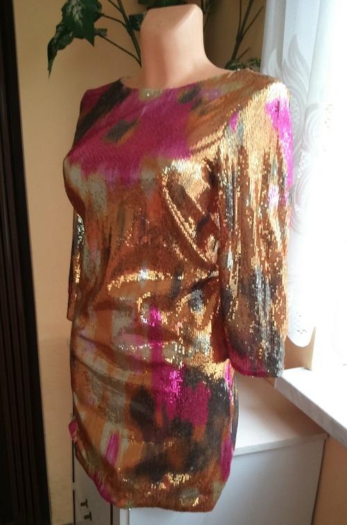 Cekinowa sukienka XL