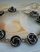 stara srebrna bransoletka warmet róże