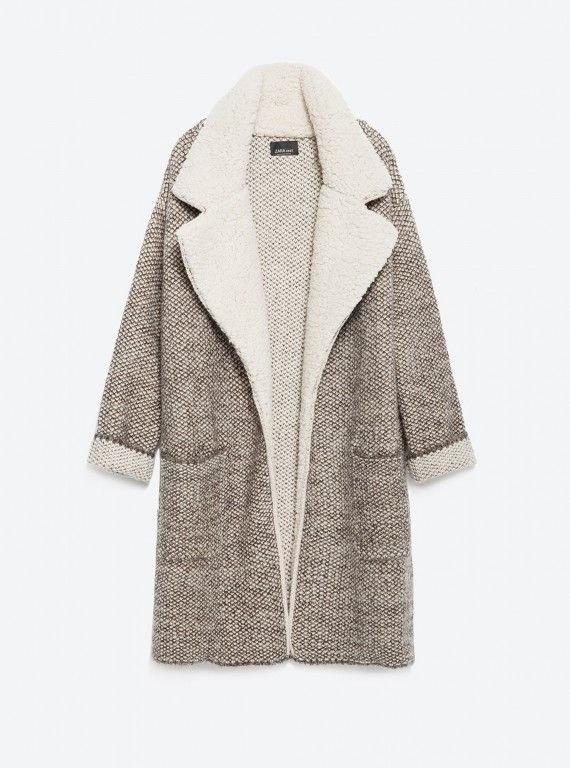 płaszcz kożuszek zara
