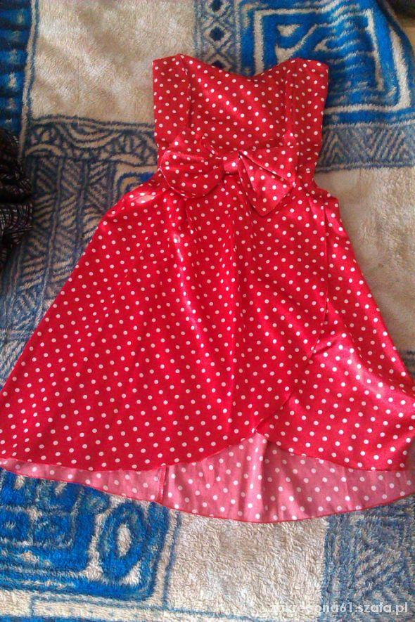 0d9eb16b czerwona sukienka w białe groszki w Suknie i sukienki - Szafa.pl