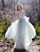 Conscious Exclusive suknia H&M miętowa tiul gorset