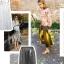 Metaliczna plisowana spódnica