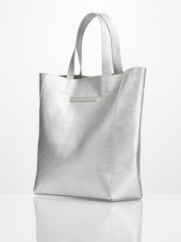 Dodatki Szukam srebrnej torby shopper bag Mohito