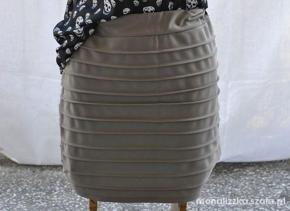 Spódnice Szara ołówkowa spódnica