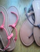 lekkie sandały japonki w stylu boho hippie 2 pary