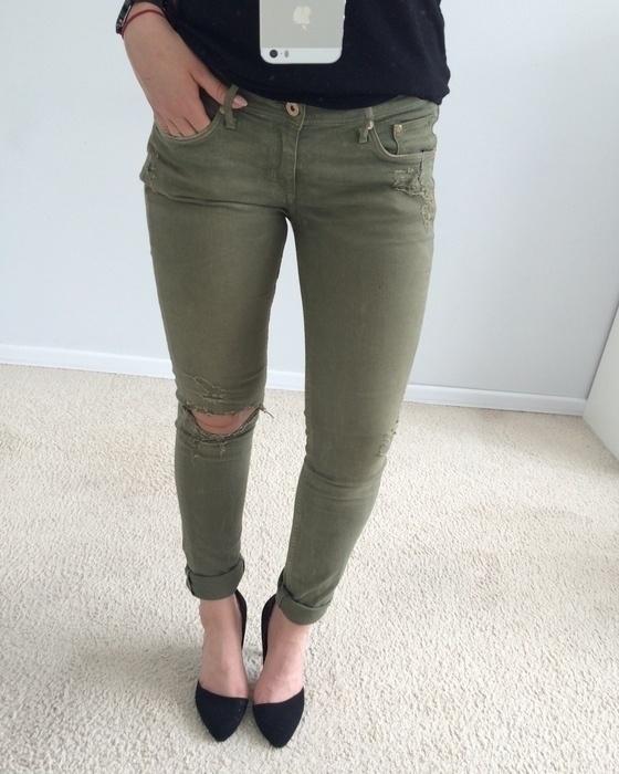 spodnie khaki H&M...