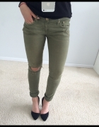spodnie khaki H&M
