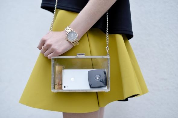 Nowa przeźroczysta transparentna torebka kopertówk
