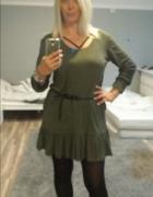 Khaki sukienka