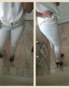 Jeansy rurki z zamkami
