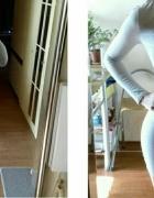 zestaw spódniczka z topem szarym...
