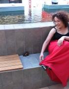 spodnia w kalorze czerwony...