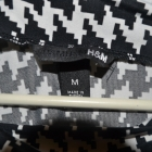 Czarno biała bluzka HM