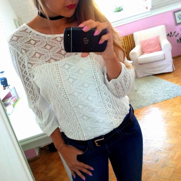 Mój styl Biało czarno jeansowo