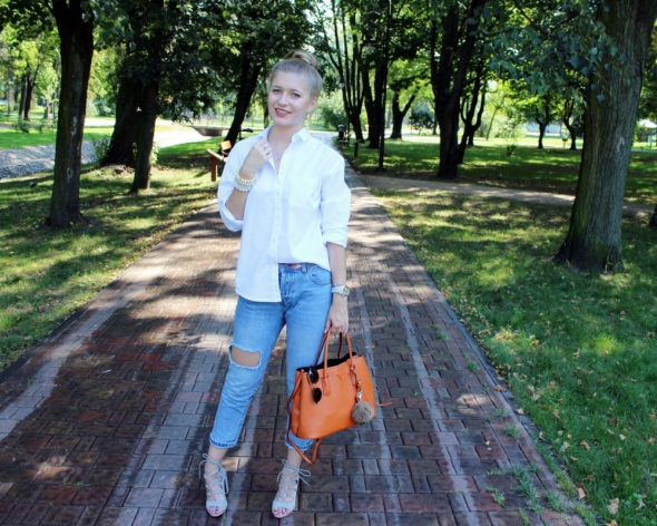 Blogerek Biała koszula & jeans