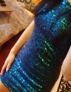 Cekinowa sukienka H&M rozmiar 34