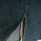 Prosta jeansowa spódnica maxi z rozcięciami L