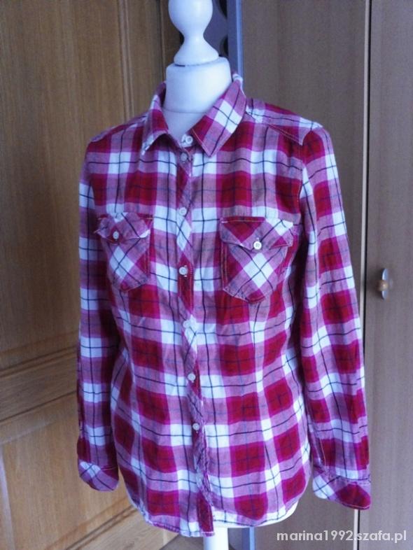 flanelowa koszula w kratę H&M M 38