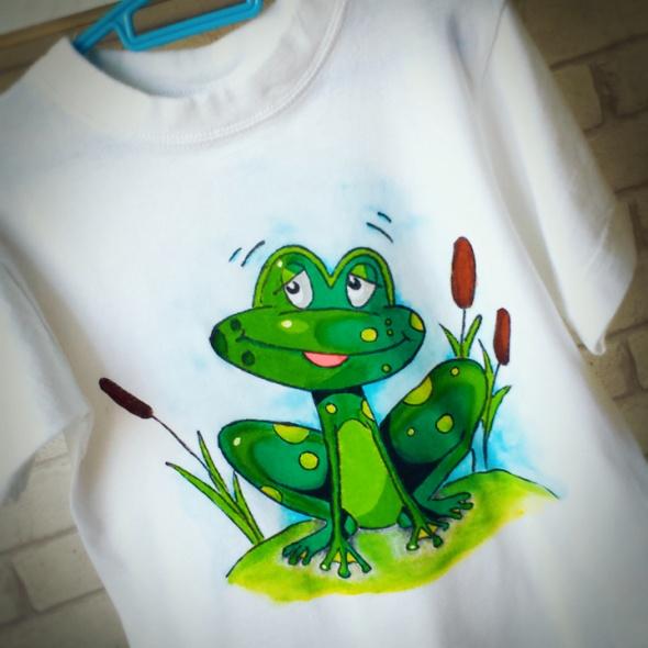 Koszulki, podkoszulki Koszulka z żabką HANDMADE