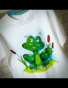 Koszulka z żabką HANDMADE...